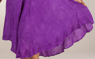 ac65f0f277 Short Sleeve Cotton Easy Fit Plus Umbrella Dress in Purple Batik