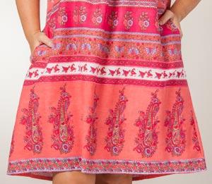 Plus La Cera 100% Cotton Muu Muu Dress - Short Sleeve in Floral Coral ab23676d2
