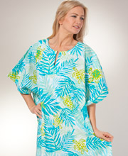 Women's Cotton Kaftan - Peppermint Bay One Size Caftan in Turtle Cove