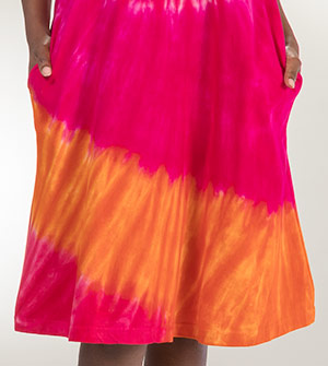 e7154adb7bfef Casual Dresses - La Cera Cotton Knit A-Line Dress - Dynamite Pink