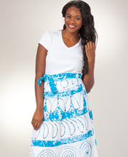 Beach Wrap Skirts - 100% Cotton Maxi Skirt in Cancun Prints