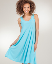 Casual A-Line Dresses - Ellen Parker Sleeveless Short Dress in Aqua