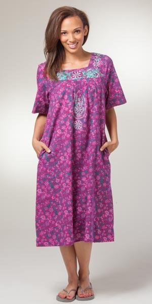 Long muumuu house dress