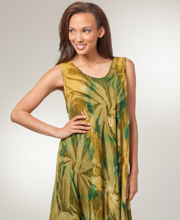 Easy Fit Dress - Sleeveless Long Rayon Beach Cover Up - Everglades