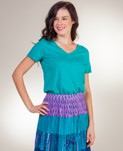 Phool Cotton Skirts - Crinkle Maxi Skirts for Women in Undersea Maiden