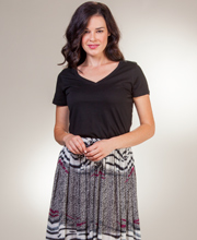 Maxi Skirts for Women - One Size Semi-Sheer Rayon Skirt in Phantasm