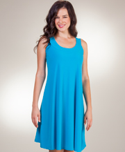 A-Line Style Sleeveless Dress by Ellen Parker in Turquoise