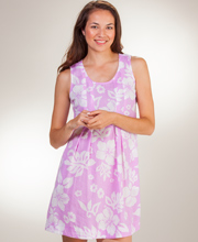 Peppermint Bay Sundress - Sleeveless Short Cotton Dress in Maui Berry