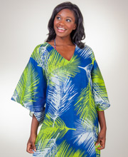 Peppermint Bay Breezy Beach Caftan - 100% Semi-Sheer Cotton in Island Breeze