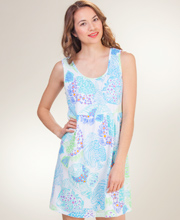 Sun Dress - I Can Too Cotton Babydoll/Cover Up - Fish Tales in White