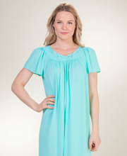 Miss Elaine Classics Nylon Ballet Length Nightgown - Spearmint