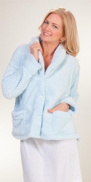 dc52eeab4ca3f La Cera Plus Bed Jacket - Shawl Collar