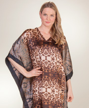 Satin Kaftans - Winlar Polyester Caftan in Jungle Mood