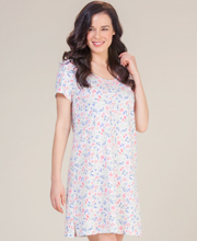 Short Sleeve Cotton Nightshirt by Carole Hochman in Petite Posies
