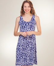 Ellen Parker A-Line Dresses - Sleeveless Casual Dress in Maritime