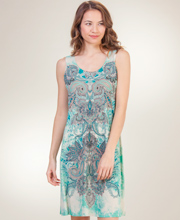 Day Dresses - Ellen Parker Sleeveless A-Line Dress in Garden Paisley