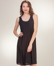 Knee-Length Ellen Parker Sleeveless A-Line Textured Dress in Black