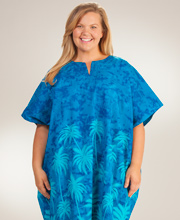 Caftans Womens Plus - Peppermint Bay Beach Caftan in Miami Nights
