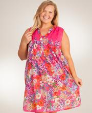 0853162f2 La Cera Plus Cotton Dresses - Sleeveless Short Sundress In Pink Vision