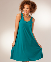 Ellen Parker Dress - A-Line Sleeveless Poly Blend Short Dress in Teal