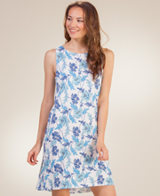 Sleeveless Jockey Cotton-Rich Short Nightgown in Poppy Field