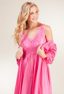 4618e109da45 Shadowline Silhouette Sleeveless Long Nightgown in Raspberry
