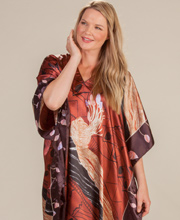 Winlar Caftan - Satin One Size Long Kaftan in Shell Shock