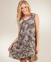 Sleeveless Coverups - Misses One Size Viscose Beach Dress in Mayan