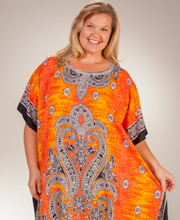 Sante Plus Polyester Caftans - One Size Long Kaftan in Sunrise