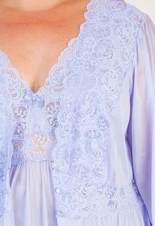 fed4516c6 Plus Shadowline Silhouette Long Nightgown Robe Peignoir Set - Peri Frost