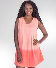 a22903323 Peppermint Bay Cotton Sleeveless Short Beach Dress in Azalea