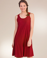 A-Line Style Sleeveless Dress by Ellen Parker in Caliente