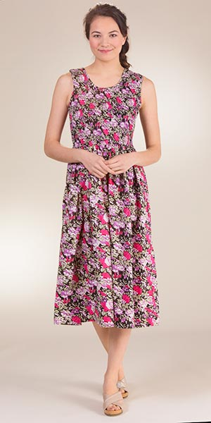 2bc4cf7b9732 Cotton Metropolitan Sun Dresses - Smocked Sleeveless Long Dress in Evening  Meadow