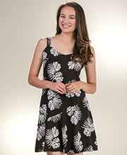 b59a0ba91 Peppermint Bay 100% Rayon Sleeveless Short Beach Dress in Wild Palms