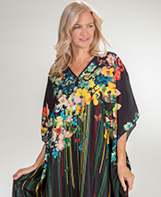 Women's Kaftans by Winlar - Micro Denier Caftan One Size in Papillion