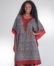 Short Caftans - Sante One Size Polyester Caftan Tunics in Malkia