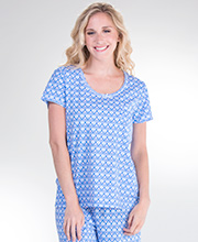 Carole Hochman 100% Cotton Short Sleeve Pajamas in Fan-Tastic