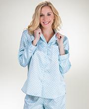Brushed Back Satin Pajamas Serene Comfort