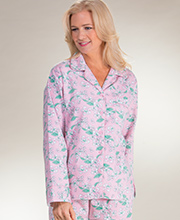 Cotton Flannel Pajamas - Long Sleeve Kayanna PJs in Apple Blossoms