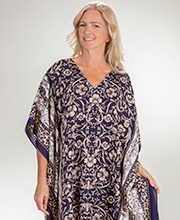 Winlar Micro Denier Poly Caftan One Size in Grand Triumph