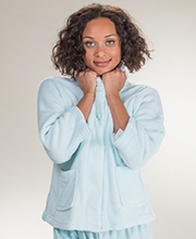 Cloud Fleece Bed Jacket - Soft Blue
