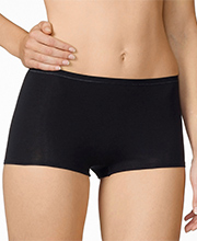"Calida Boyshort - ""Comfort"" Cotton-Rich Brief Panties in Black (25124)"