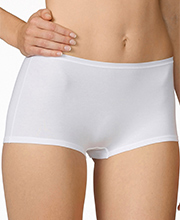"Calida ""Comfort"" Cotton-Rich Boyshort Panties in White (25124)"