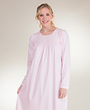 calida 100% long sleeve classic cotton nightgown