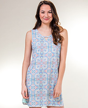 Sleeveless Chemise by Jockey - Cotton-Rich Short Gown in Exotic Emblem