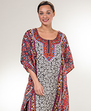 Long Sante One Size Polyester Caftan in Flourish