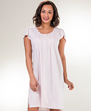 Plus Gowns - Miss Elaine Short Flutter Sleeve Silkyknit - Petal Pink