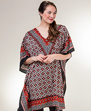 Short Sante Kaftans - One Size Polyester Caftan Tunics in Pirouettes