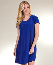 Pretty Woman A-Line Polyester Short Dress - Short Sleeve in Royal Blue