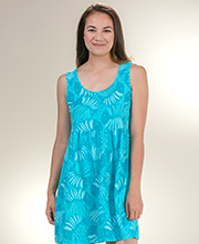 Sun Moda by Icantoo Coverups - Jersey Cotton Babydoll Dress in Aqua Cove